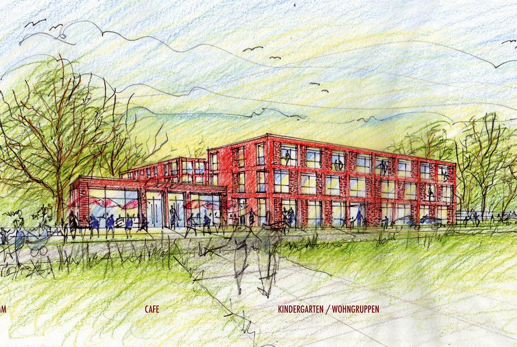 Zeichnung der Wohneinheiten Kronsberger Höfe